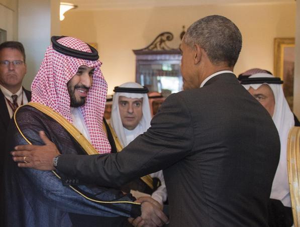 Saudi Crown Price Mohammed bin Salman and Obama
